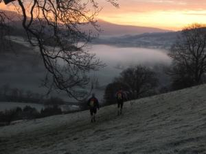 A frosty dawn in the Brecons