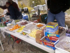 Aid Station supplies, grilled cheese - mmmmm