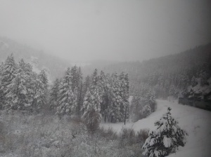 Snow in the Rockies